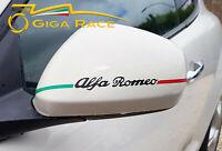 adesivi auto alfa romeo giulietta mito 159 brera 147 specchietti sticker decal