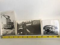 Vintage Snapshot Photo Various 1940s Cars Female Model