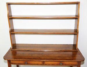 Regency Mahogany Inlaid Waterfall Bookcase