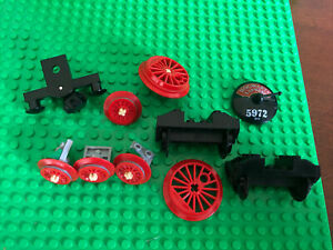 Lego Train Parts Wheels Bumpers 60197 60198 60052 5972 Assorted Red Wheels Blakc