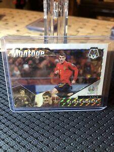 Spain Alvaro Morata 2020-21 Panini Mosaic UEFA Montage White Prizm /25 SP Rare
