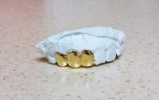 3PC S. Silver, 10K or 14K Solid Gold Custom Made Grill Grillz