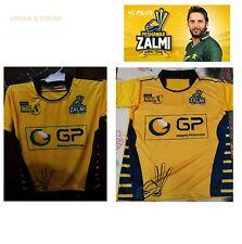 New PSL 2017 PESHAWAR ZALMI T-Shirt Pakistan Super League Half Sleeve Jersey