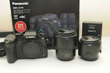 Panasonic Lumix G7 16 MP Digital Mirrorless Camera kit 14-42mm 45-150mm lens G7W