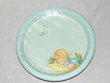 ~PRECIOUS MOMENTS~  BABY BOY  8-LARGE  PAPER  LUNCH PLATES PARTY SUPPLIES
