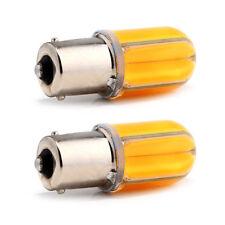 2X 960LM Amber COB 48 SMD 8 SILICA 12V 24V S25 1156 BA15S LED Bulb 9~28V Kit