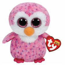 NEW TY BEANIE BOOS REGULAR - GLIDER THE PINK PENGUIN 36177