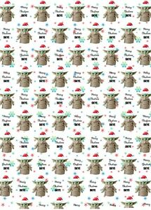Personalised Baby Yoda Christmas Wrapping Paper