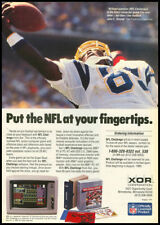 1985 hi-tech ad for NFL Challenge computer game
