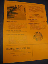 Haynes Products Co. Asbestos Waterproofing 1948 Hayproc Catalog