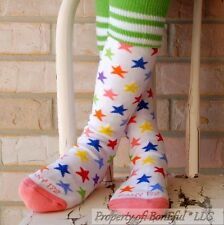 BonEful Boutique RTS NEW Cotton Knit GIRL KNEE HIGH SOCK KID Rainbow Soccer STAR