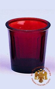 2 PCS - Orthodox Vigil Lamp Glass Oil Replacement Cup InLined
