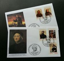 Vatican 5th Centenary Of Discovery And Evangelization Of America 1992 (FDC pair)