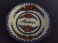 Vintage Ceramic Alcobaca Monstary (Portugal) Trinket Dish Blue White