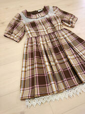 LIZ LISA Dress Japan-M Trad Pink Plaids/Checks Hime&Lolita Romantic 109 Fashion
