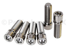 BMX bicycle stem bolts w/ built in washer M8 X 1.25 X 24mm (set of 6) TITANIUM