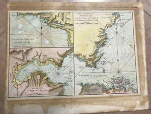CORSICA FRANCE 1793 WILLIAM FADEN NICE ANTIQUE SEA CHART 18TH CENTURY