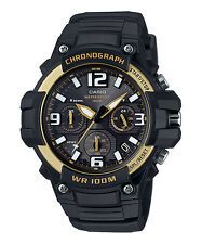Casio MCW100H-9A2, Chronograph Watch, Black Resin Band, 100 Meter WR, Date