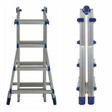 FACAL Brico Blu 4,9m Scala Telescopica in Alluminio - Blu
