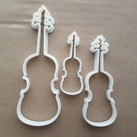 Violin Fiddle Instrument Shape Cookie Cutter Dough Biscuit Pastry Fondant Sharp