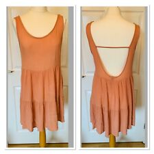 Brown Forever 21 Rayon Dress Size M Medium (5043)