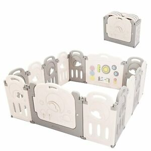 Fortella ABST-W025C Cloud Castle Foldable Playpen Baby Safety Play Yard 14 Panel