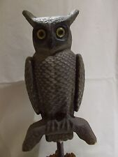 HALLOWEEN OWL w/Glass Eyes ~ Soules & Swisher ~ Decatur, IL ~ 2 Faced ~ 12-1/2""