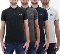 Mens Polo T Shirt Born Rich By Money Clothing Iolite Studded Collar Casual Top