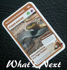 Woolworths <<AUSSIE ANIMALS>> Card 99/108 MOUNTAIN RANGES Tiger Snake