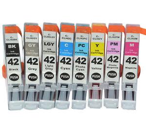 CLI-42 8PK Ink Cartridge Set For Canon PIXMA PRO100, PRO 100s Printer Non OEM