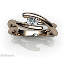 18K Solitaire Ring setting for diamond selection (white/yellow/rose gold) DW0053