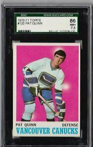 1970 - 1971 Topps Pat Quinn #120 SGC 86 P828