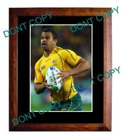 KURTLEY BEALE AUST WALLABIES 2011 WORLD CUP A3 PHOTO 2