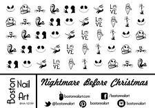 Nightmare Before Christmas - Waterslide Nail Decal - 50 PC