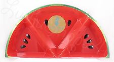 Outdoor Collection Watermelon melamine divided condiment relish serving tray