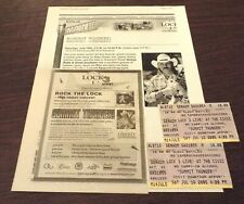 Dickey Betts 2005 2 Concert Ticket Stubs Akron, Oh 7/16/2005 - Allman Brothers