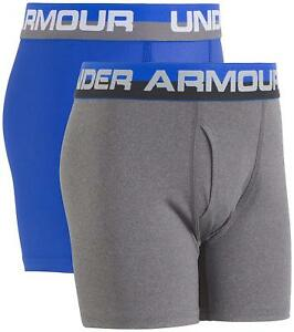 Under Armour Childrens Apparel Boys Big 2 Pack Performance Boxer