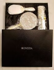 Oneida Ropes and Bows Dresser Set Silverplate with Enamel New in Box