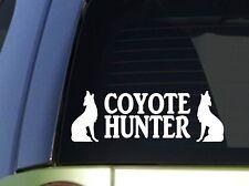 Coyote Hunter *H940* 8 inch Sticker decal predator decoy yellowstone