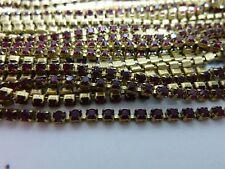 By the foot Swarovski rhinestone chain siam red 2mm crafts jewelry repair