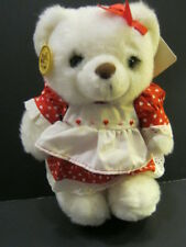 Vintage Plush Dressed Bear By Russ - New  with tags