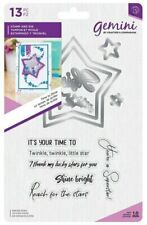 Gemini Shaker Card Stamp & Die - Time to Shine
