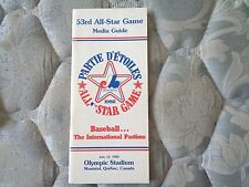 1982 ALL STAR GAME MEDIA GUIDE Major League Baseball MONTREAL EXPOS Program AD