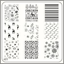 Moyou Uña moda Estampación placa de Diseño manicura 451 Navidad plantilla