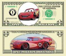 USA 1 Million Dollar banknote 'Lightning Mc Queen' (Pixar) - NEW - UNC & CRISP