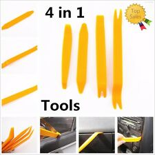 4pcs Auto Door Trim Panel Clip Lights Radio Audio Removal Pry Open Tool Kit (Fits: Neon)