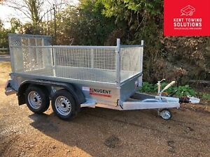 """NEW Nugent General Purpose Goods Plant G2512-2 Cage Mesh Sides 8'2""""x4'2"""" Trailer"""