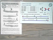 "L-188 ELECTRA ""PACIFIC WESTERN"" WHISKEY JACK  DECALS 1/144"