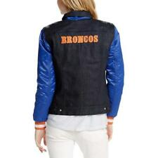 LEVI'S - DENVER BRONCOS MS SIZE LARGE DARK DENIM FULL SNAP VARSITY JACKET