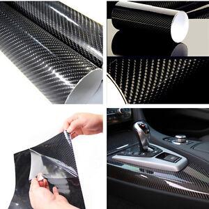 Car Off-Road 5D Shiny Gloss Glossy Carbon Fiber Dashboards Film Wrap Vinyl Decal